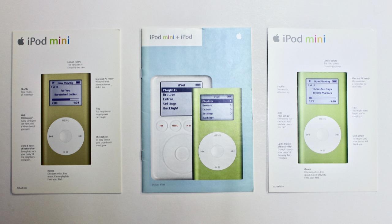 3 Ipod Ipod Mini Brochures