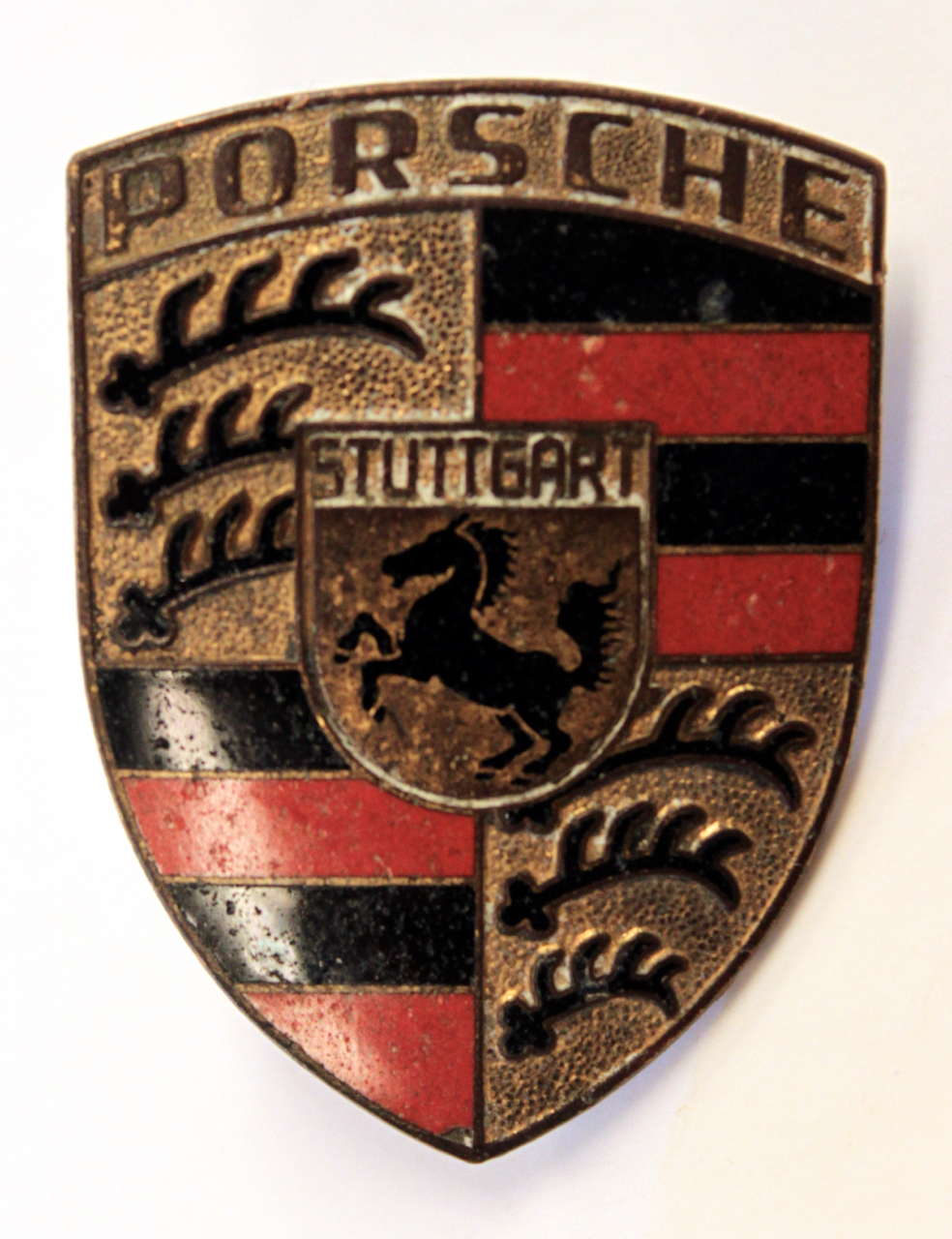 Vintage Porsche Enamel Car Badge Automobilia Car Badges