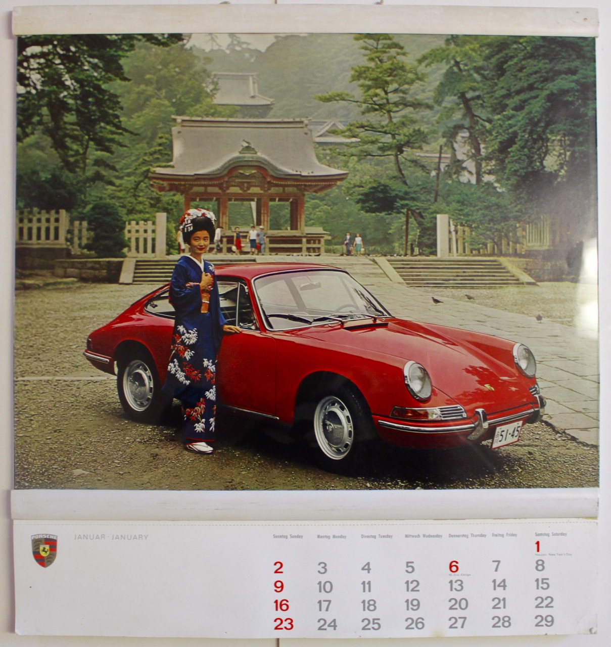 Porsche Christophorus 1966 Calendar Vintage Cars