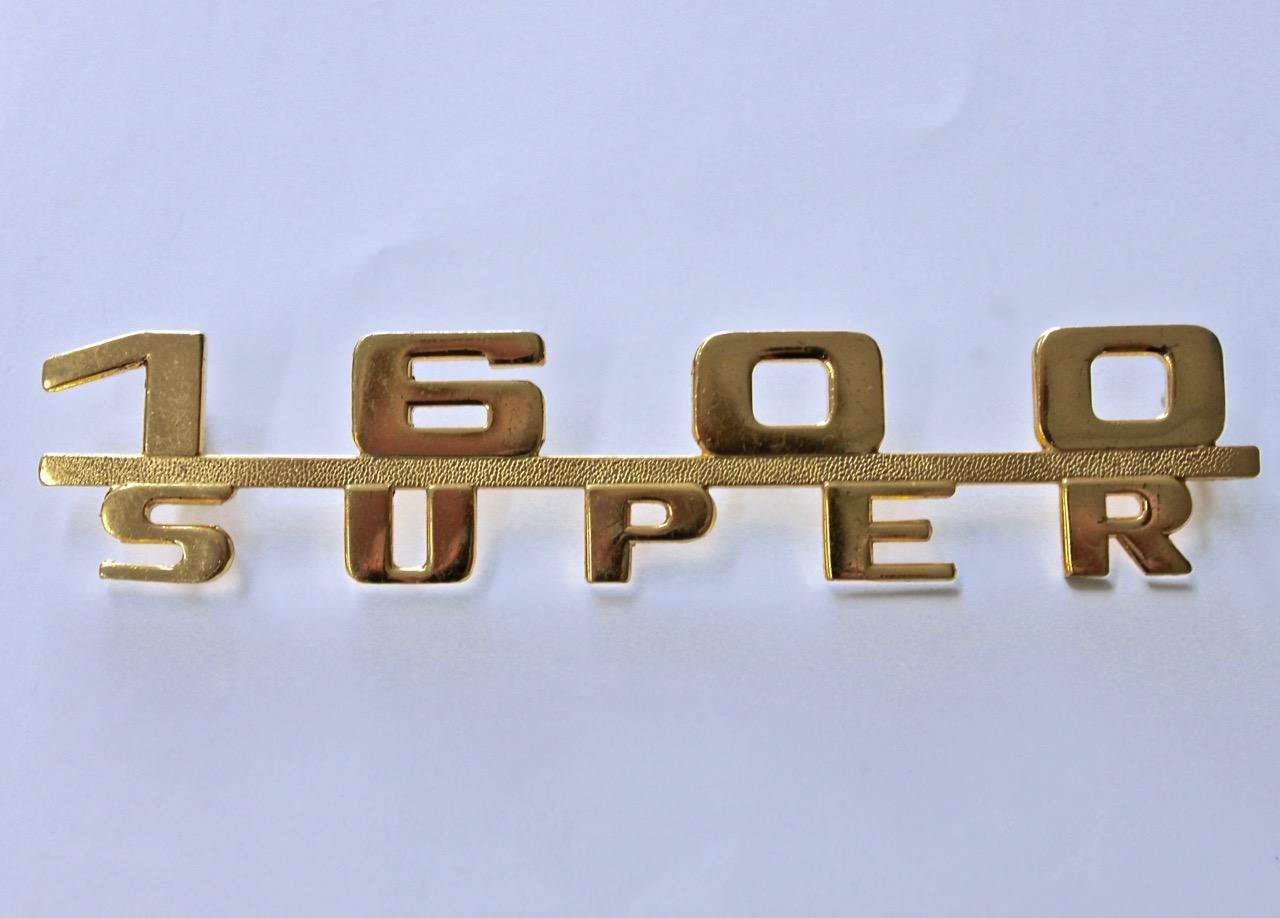 Porsche 356 1600 super - engine lid script badge
