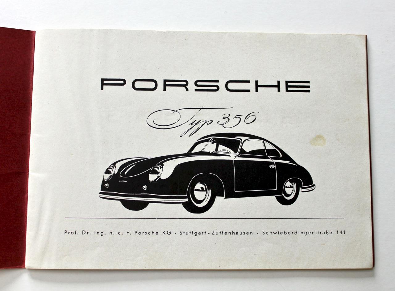Porsche 356 Pre A Drivers Manual Vintage Cars